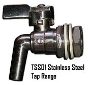 stainless steel taps for wine containers