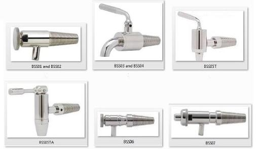 stainless steel metal taps for wooden wine barrels