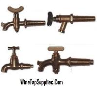 Tapered Brass Taps for Wooden Barrels